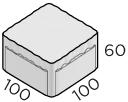 Премиальная тротуарная плитка 100*100*60 размеры
