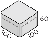 Тротуарная плитка 100*100*60 размер