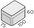 Тротуарная плитка 100*75*60 размер
