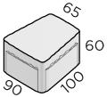 Премиальная тротуарная плитка 100*90*65*60 размеры