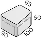 Тротуарная плитка 100*90*65*60 размер