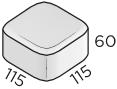 Премиальная тротуарная плитка 115*115*60 размеры