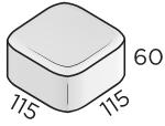 Брусчатка 115*115*60 размеры