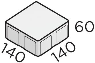 Премиальная тротуарная плитка 140*140*60 размеры