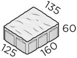 Тротуарная плитка 160*125*135*60 размер