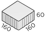 Тротуарная плитка 160*160*60 размер