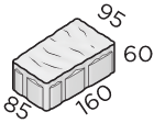 Тротуарная плитка 160*85*95*60 размер