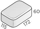 Премиальная тротуарная плитка 172*115*60 размеры