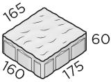 Тротуарная плитка 175*160*165*60 размер