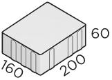 Тротуарная плитка 200*160*60 размер