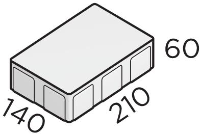Премиальная тротуарная плитка 140*210*60 размеры