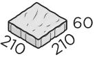 Тротуарная плитка 210*210*60 размер