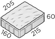 Тротуарная плитка 215*160*205*60 размер