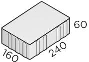 Тротуарная плитка 240*160*60 размер