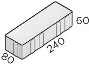 Тротуарная плитка 240*80*60 размер