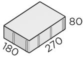 Тротуарная плитка 270*180*80 размер