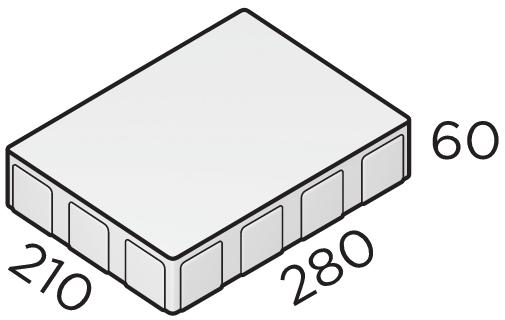 Премиальная тротуарная плитка 210*280*60 размеры