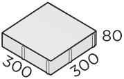 Тротуарная плитка 300*300*80 размера