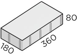 Тротуарная плитка 360*180*80 размер