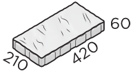 Тротуарная плитка 420*210*60 размер