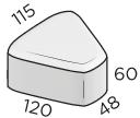 Премиальная тротуарная плитка 48*120*115*60 размеры