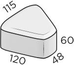 Тротуарная плитка 48*120*115*60 размеры