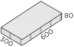 Тротуарная плитка 600*300*80 размера