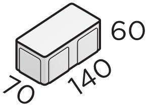 Премиальная тротуарная плитка 140*70*60 размеры
