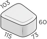 Тротуарная плитка 73*115*103*60 размеры