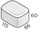 Премиальная тротуарная плитка 86*115*60 размеры