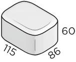 Тротуарная плитка 86*115*60 размеры