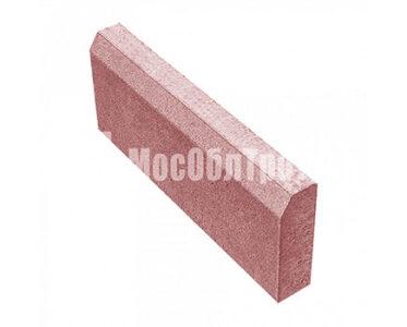 Бордюрный камень «Садовый вибропрессованный» Красный