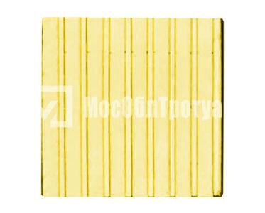 Тактильная плитка «Прямой риф» Желтый