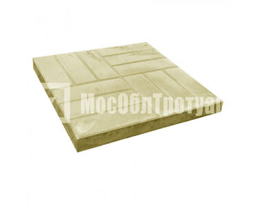 Тротуарная плитка «12 кирпичей» (500X500X50) Желтый