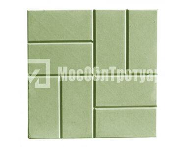 Тротуарная плитка 8 кирпичей Зеленый
