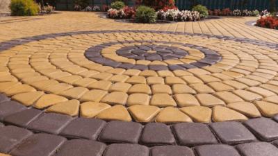 Бетонная тротуарная плитка Горгазон