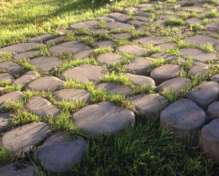 Бетонная тротуарная плитка.