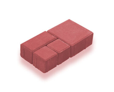 Брусчатка модульная Красный