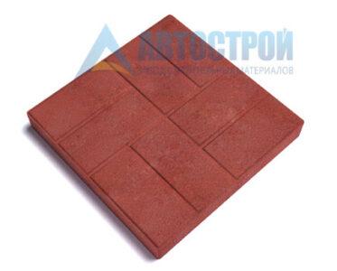 Тротуарная плитка «Паркет» H30 красный