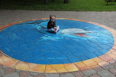 тротуарной плитки с 3Д рисунком