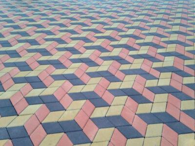 Тротуарная плитка с 3д эффектом