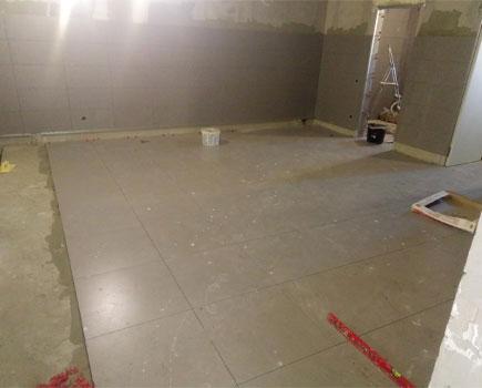 Укладки плитки в гараже