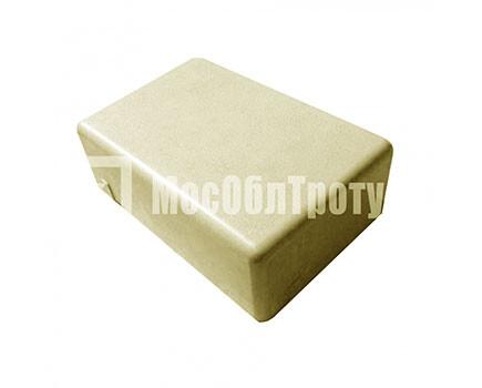 Тротуарная плитка «Одинарный брук» (180Х120Х60) Желтый