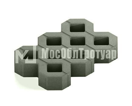 Тротуарная плитка «Газонная решетка» Серый