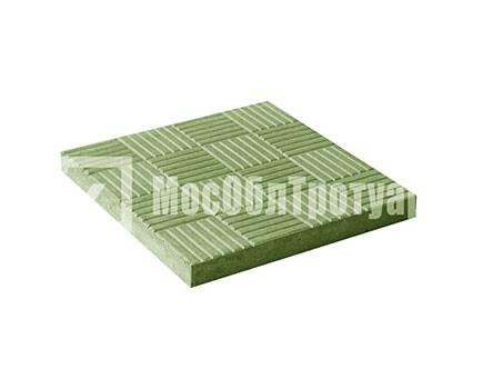 Тротуарная плитка «Паркет» Зеленый