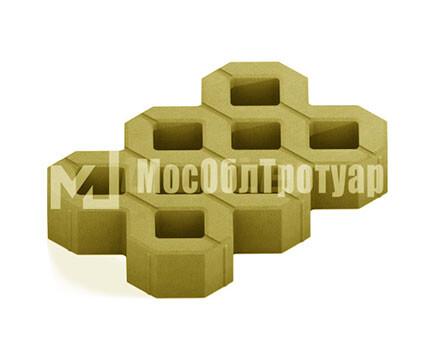 Тротуарная плитка «Газонная решетка» Желтый