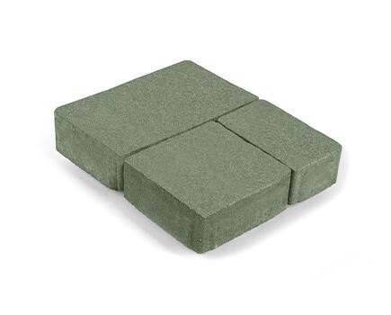 Плитка «Старый город» для тротуара зеленый