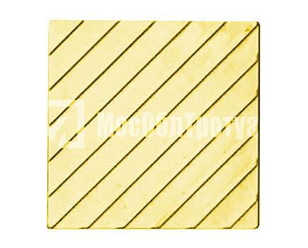 Тактильная плитка «Диагональный риф» Желтый