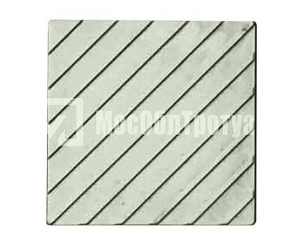 Тактильная плитка «Диагональный риф» Серый