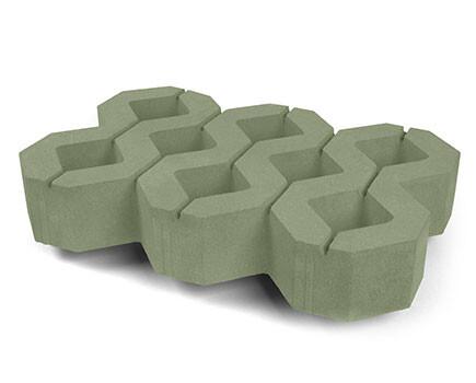Тротуарная-плитка-Газонный-камень-зеленый